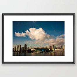 Puff Framed Art Print