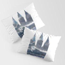 Salt Lake Temple Dramatic Sky Silhouette Pillow Sham
