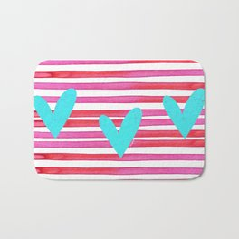 Soulmates Lines and Hearts Bath Mat