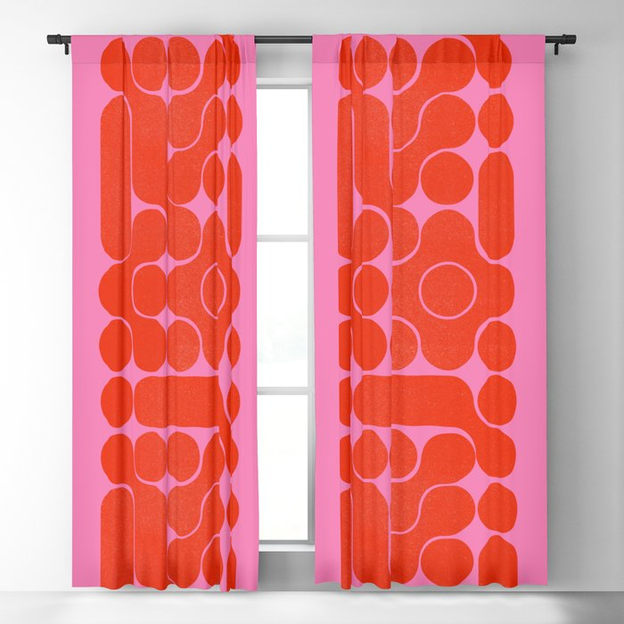 Abstract mid-century shapes no 6 Blackout Curtain