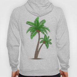 Tropical palm tree with coconuts symbol isolated vector illustration Hoody