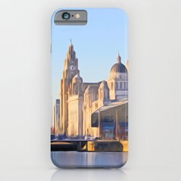 Albert Dock And the 3 Graces iPhone Case