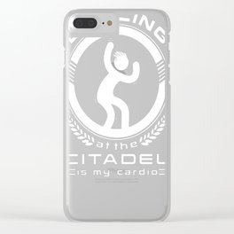 DANCING AT THE CITADEL IS MY CARDIO T-SHIRT Clear iPhone Case