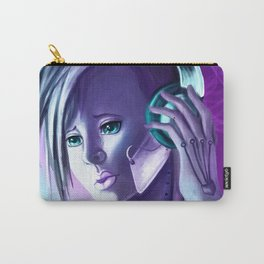 Plugged In/ Blue & Pink Carry-All Pouch