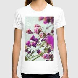 pink florets detail T-shirt