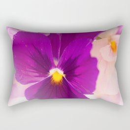 Flower Bouquet in Purple and Pink Colors  #decor #society6 #buyart Rectangular Pillow