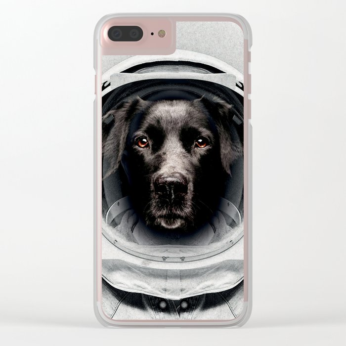 Pluto Astro Dog Clear iPhone Case