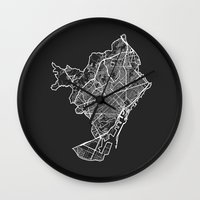 barcelona Wall Clocks featuring BARCELONA by Nicksman