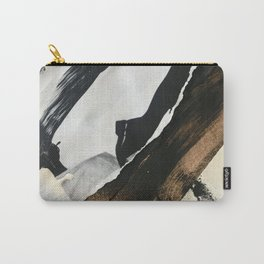 Stay | Collage Series 2 | mixed-media piece in gold, black and white + book pages Carry-All Pouch
