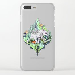 Little Elephant on a Jungle Adventure - faded vintage version Clear iPhone Case