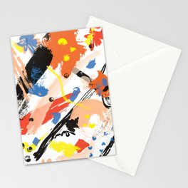 Abstract Floral Splash Stationery Cards