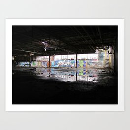Downstairs Art Print