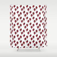 ladybug Shower Curtains featuring Ladybug by Paint it graphics
