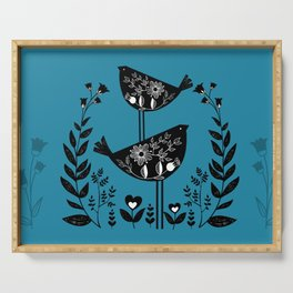 Danish Birds Bring Good Luck And A Good Life Serving Tray