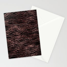 sparkling rose waves Stationery Cards