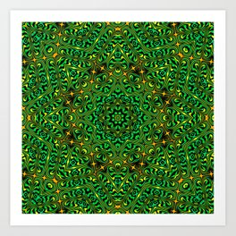 Orange Yellow and Green Kaldeidoscope 4 Art Print