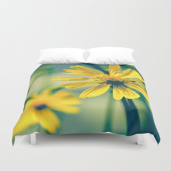 Yellow Sunshine Duvet Cover