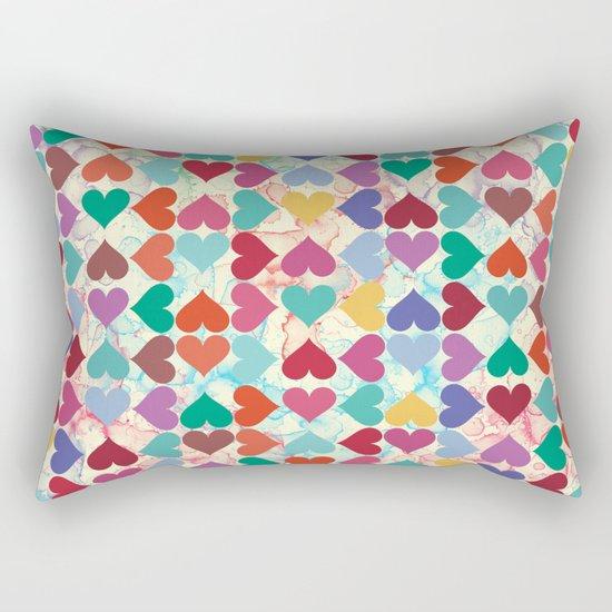 Colorful Love Pattern Rectangular Pillow