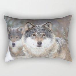 Wolf shadow Rectangular Pillow