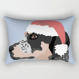Coonhound Santa Hat Rectangular Pillow