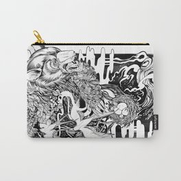Bear- black and white - illustration Carry-All Pouch