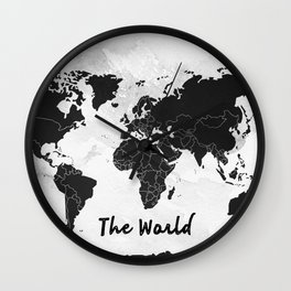 The world -map Wall Clock