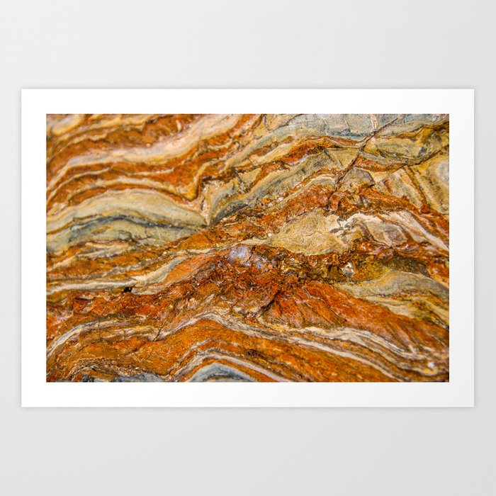Orange Rock Texture Art Print By Oscape