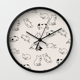 More Sleep Frenchie Wall Clock