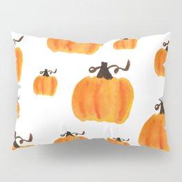 Watercolor Pumpkin Pattern Pillow Sham