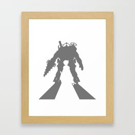 Little Sister and Big Daddy Silhouette Framed Art Print