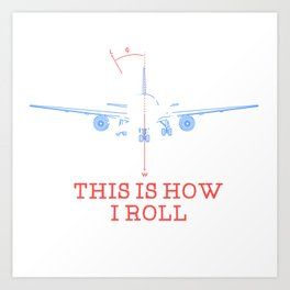Pilot Airplane Gift Art Print