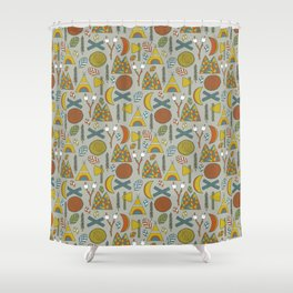Out in the Woods Camping Shower Curtain