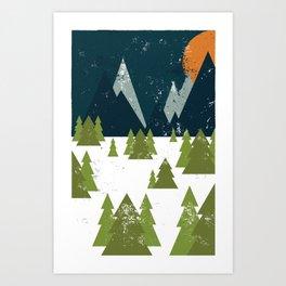 Snow Mountains Art Print
