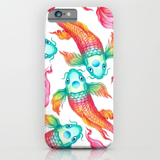 Rainbow koi fish iphone case by sanjana baijnath society6 for Rainbow koi fish