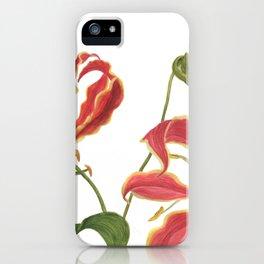 Gloriosa lily iPhone Case