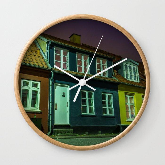 Latinerkvarteret, Aarhus, Denmark Wall Clock