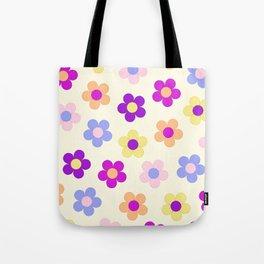 Flower Power Design Tote Bag