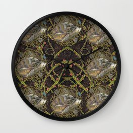 Fox and Thorns II Wall Clock