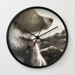 Rowen, the Collie Pup Wall Clock