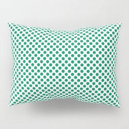 Jelly Bean Green Polka Dots Pillow Sham