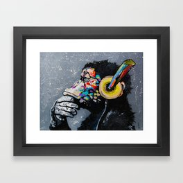 MELOMONKEY I Framed Art Print