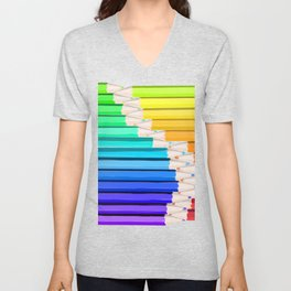 Rainbow of Creativity Unisex V-Neck