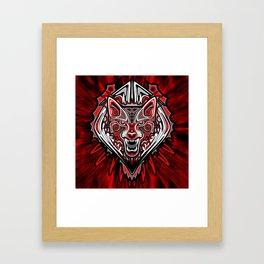 Wolf Tattoo Style Haida Art Framed Art Print
