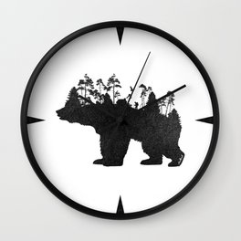 Wild Bear Wall Clock