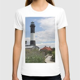 Walkway To Fire Island Lighthouse T-shirt