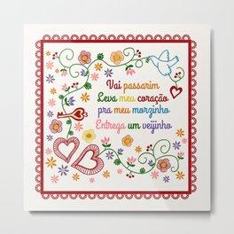 Valentines Gift or Lenço dos Namorados Metal Print