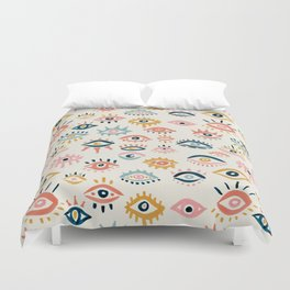Mystic Eyes – Primary Palette Duvet Cover