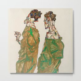 "Egon Schiele ""Devotion"" Metal Print"