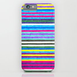 Yellow Stripes iPhone Case