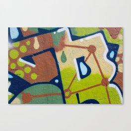 graffiti painting closeup - graffiti artwork Canvas Print
